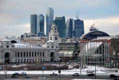 station för områdescekiev moscow russia shopping Arkivbilder