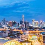 Station för panoramaBangkok central drev Arkivbilder