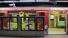 Station för port för Taipei tunnelbana östlig HD stock video