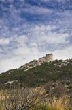 Station för Sardinia cala morescaraio av guglielmomarconien Arkivbilder
