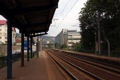 Station för Sinaia Suddrev Arkivfoton