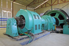 Station för smörjning för mekanisk utrustning för järnmalm Arkivbilder