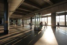 Station för sparvkulletunnelbana, Moskva Arkivfoto
