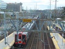 Station för Stamford Tunnelbana-nord järnväg Royaltyfria Bilder