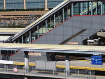 Station för Stamford Tunnelbana-nord järnväg Royaltyfri Foto