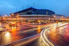 Station för Taipei Nangang utställningmitt Royaltyfri Fotografi