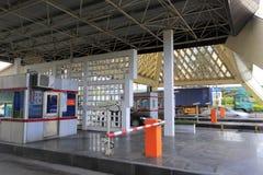 Station för Xiamen broavgift Royaltyfri Fotografi