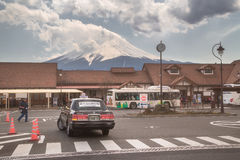 The station is famous for scenery of Mt. Fuji. royalty free stock photos