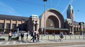 Station in Finland Helsinki, Helsingfors Stock Foto