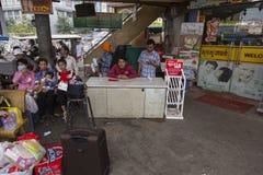 Station för huvudsaklig buss i Phnom Penh Arkivbild