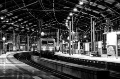 Station Friedrichstrasse. Black and White. Stock Photography