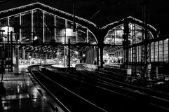 Station Friedrichstrasse. Black and White. Stock Images