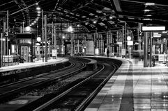 Station Friedrichstrasse. Black and White. Royalty Free Stock Photo