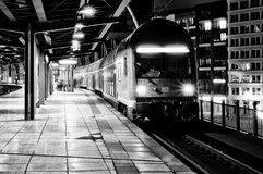 Station Friedrichstrasse. Black and White. Royalty Free Stock Photography