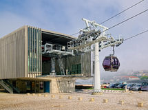 Station of the Gaia Cable Car Royalty Free Stock Images