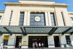 Station Genève-Cornavin Stock Afbeeldingen