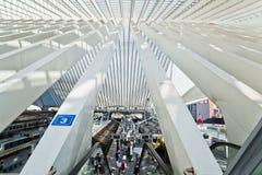 Station Guillemins i Liège, Belgien Arkivfoto
