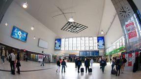 Station hall - central station Dusseldorf Royalty Free Stock Photography