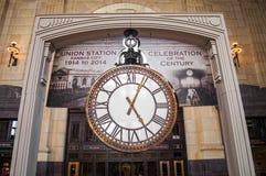Station Hall Clock grand des syndicats Image libre de droits
