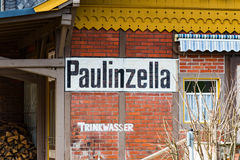 Station houses on the station in Paulinzella in Thuringia Royalty Free Stock Photography