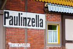 Station houses on the station in Paulinzella in Thuringia. The Station houses on the station in Paulinzella in Thuringia Royalty Free Stock Images