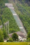 Station hydraulique de courant électrique en Bavière photo libre de droits