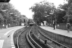 Station i Berlin Royaltyfri Fotografi