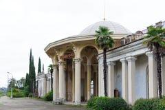 Station i den nya Athosen Royaltyfri Fotografi