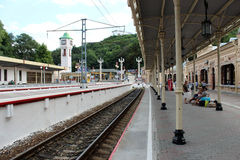 Station i Kislovodsk Royaltyfri Foto