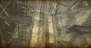 Station. Intérieur industriel moderne, escaliers, l'espace propre dans l'indu Photos libres de droits
