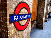 Station Londons Paddington, London, Großbritannien lizenzfreie stockbilder