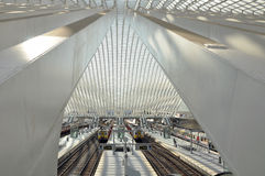 Station Luik-Guillemins Stock Foto's