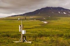 Station météorologique dans l'Arctique photos stock