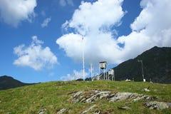 Station météorologique de lac Bâlea photographie stock