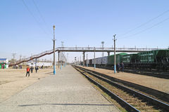 Station of Makat. Kazakhstan Royalty Free Stock Photography