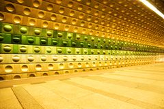 Station malostranska. Photograph of the metro subway system of prague Stock Photos