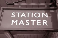 Station Master Sign Stock Photos
