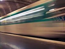 Station Metro-Paris Solferino Stockbild
