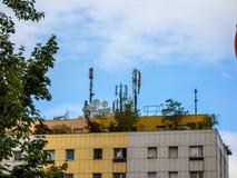 Station mobile pour loger le toit Photos libres de droits
