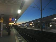 Station am Morgen stockfotografie