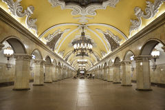 Station of the Moscow metro Komsomolskaya Stock Photo