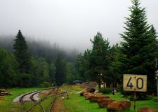 Station in the Mountain. The highest station in South Bohemia, Europe Royalty Free Stock Images