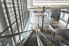 Station MRT Sungai Buloh - schnelle Massendurchfahrt in Malaysia Stockbild