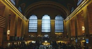 Station New York Grand Central timelapse zuhause 4K Berühmte Eisenbahnanschlusshalle mit Leuten Reise und Tourismus stock video