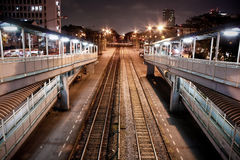 The Station in Night Life Royalty Free Stock Image