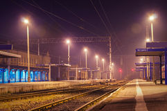 Station at night Royalty Free Stock Images