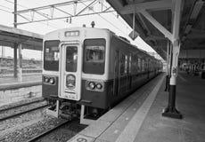 Station Nikko, Japan.Black u. weiße Fotographie Stockfotografie