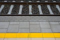 Station på en järnväg linje arkivfoto