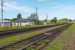 Station Palace of the Valdai district Stock Image