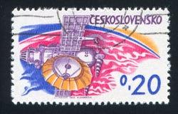 Station planétaire soviétique image libre de droits